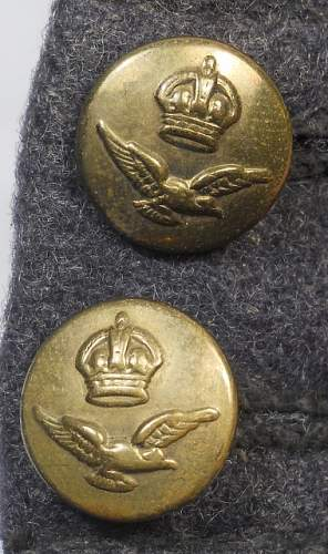 2RAF side caps, one WW2, one repro ??