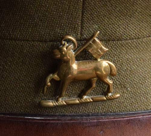 Forage and SD caps for Major C. B. Roger Queens Regiment