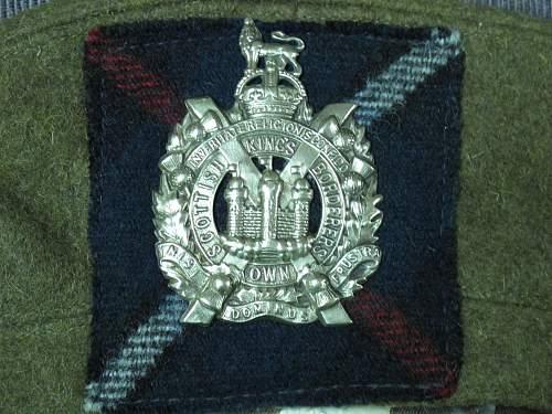 King's Own Scottish Borderers Beret