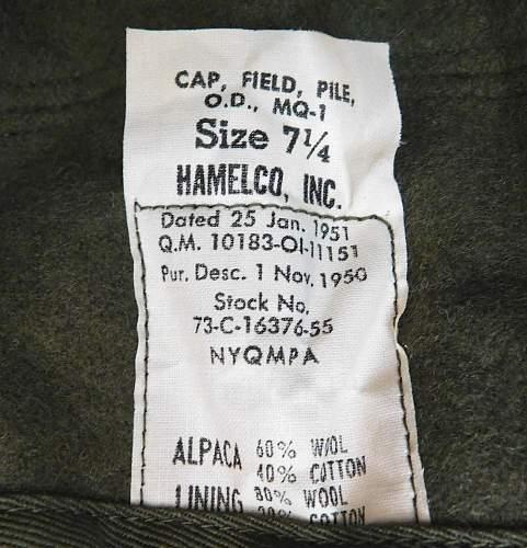 Cap Field Pile OD MQ-1