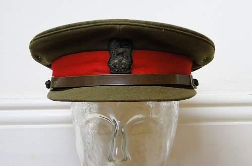Major General FRL Goodby Royal Indian Army OSD cap