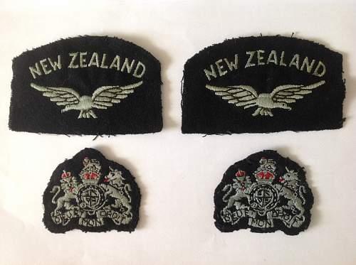 RAF New Zealand shoulder titles