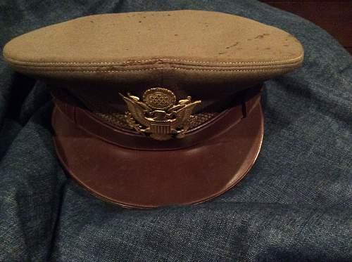 U.S. WW2 Visor cap owner information