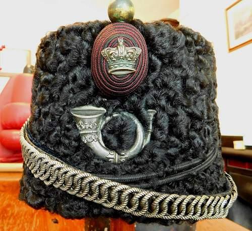 Linligowshire Rifle Volunteers Astrakhan cap