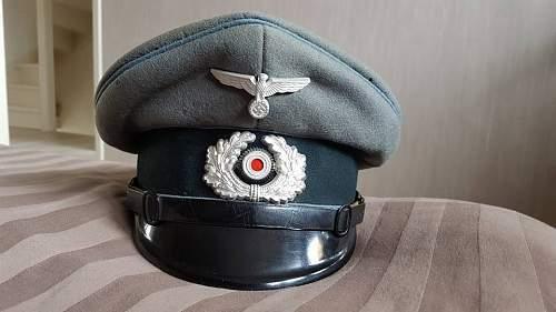 Nachschub NCO visor cap Hermann Naubert
