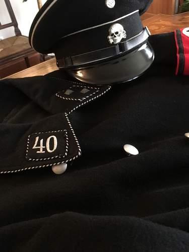 My first black SS cap, ca. 1971.