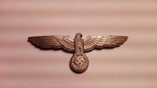 WH eagle cap badge made in 1938