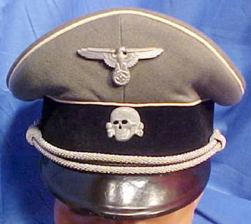 SS Officers visor cap.