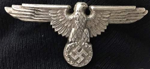 SS Enlisted man / NCO visor