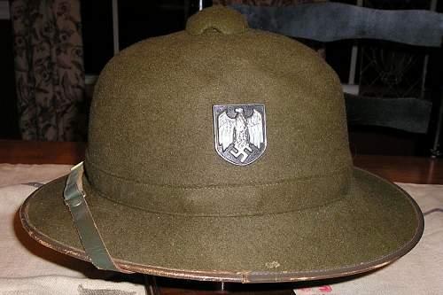 Felt german pith helmets