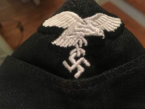 Last authentication, Luftwaffe Panzer goring division side cap?