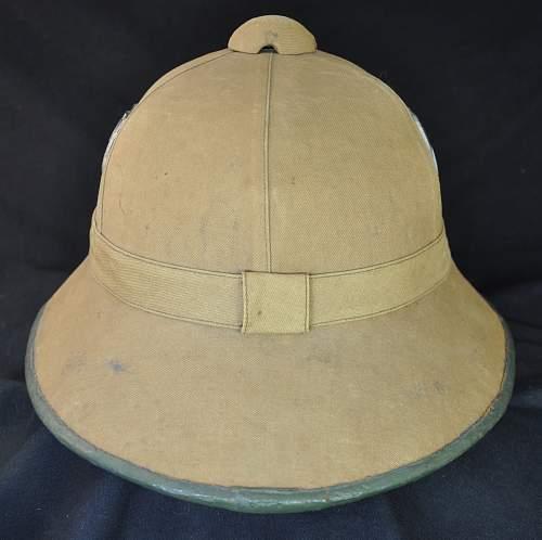 Pith helmet; 1st pattern