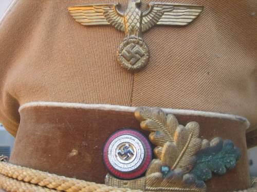 NSDAP leaders cap/Tuchmutze