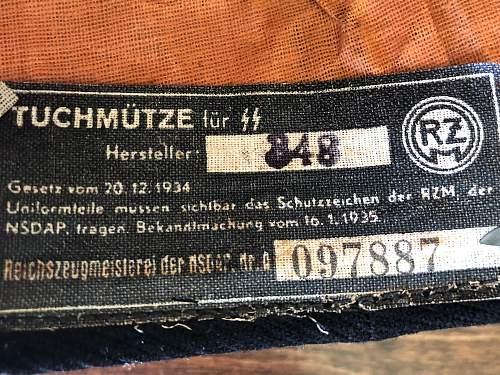 SS NCO Black Dienstmutze - My thanks