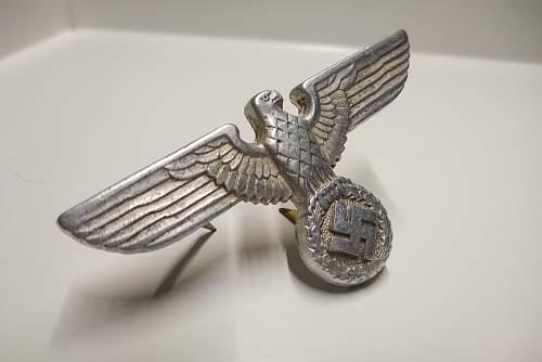 NSDAP Political Visor Cap Eagle RZM M1/49 for Review, Please