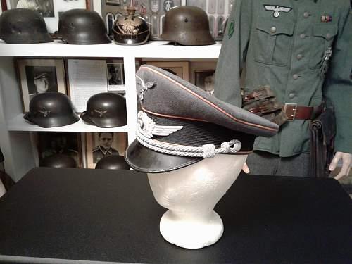 Luftwaffe Nachrichten Office Candidate Visor Cap