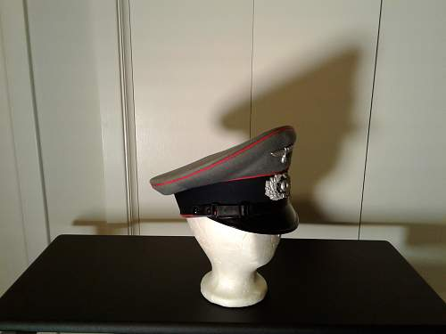 Private Purchase Clemens Wagner.  Artillery EM/NCO Visor Cap.