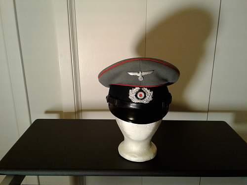 Private Purchase Clemens Wagner.  Artillery EM/NCO Visor Cap.