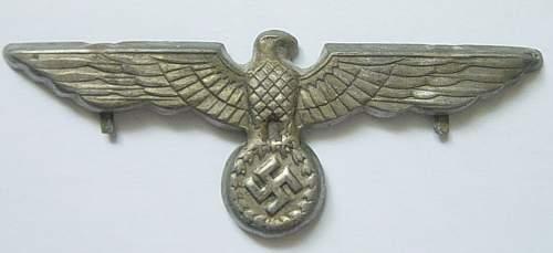 Late war Heer metal cap eagle