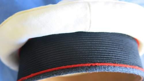 Luftwaffe Flak NCO/OR's white top visor cap by Max Lindner