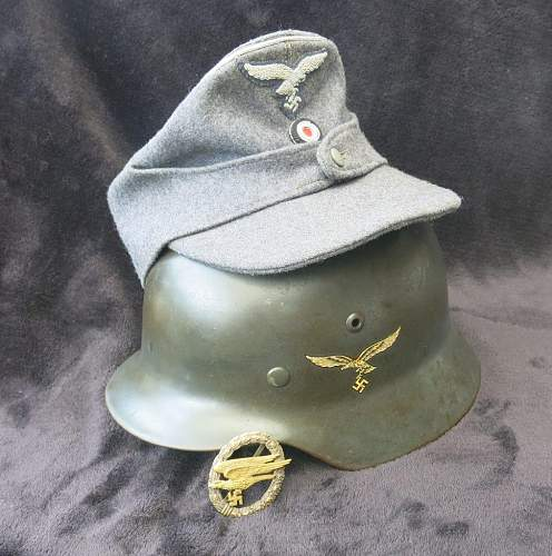 Luftwaffe Officer's single button Einheitsfeldmütze