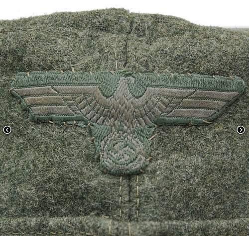 Heer Pionier EM M34 type overseas cap