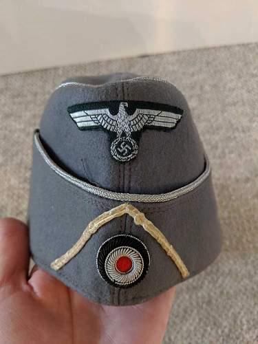 Heer officer overseas cap help