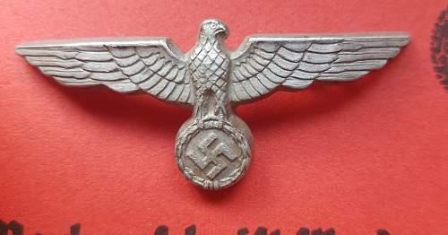 "cap eagle marked ""B&N37"""