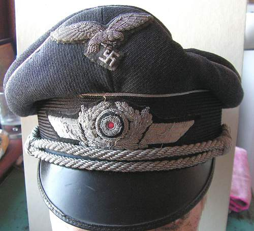 Luftwaffe officers visor