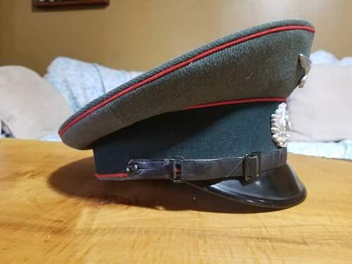 EREL NCO/EM artillery visor cap