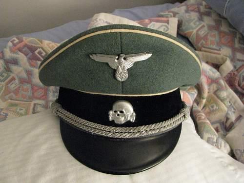 Waffen SS Officer's schirmutze