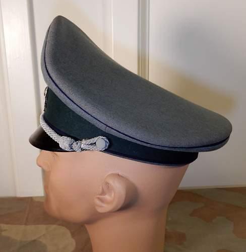 New arrival:  Heer Medical Officer's Visor Cap