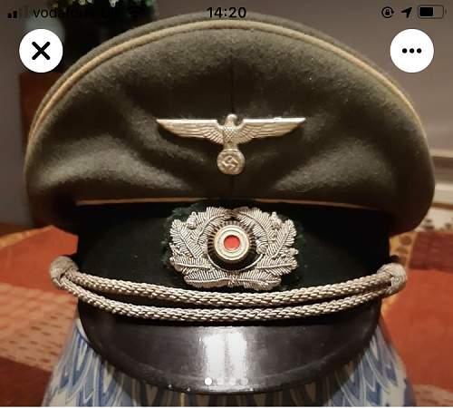 Heer officers visor Peküro