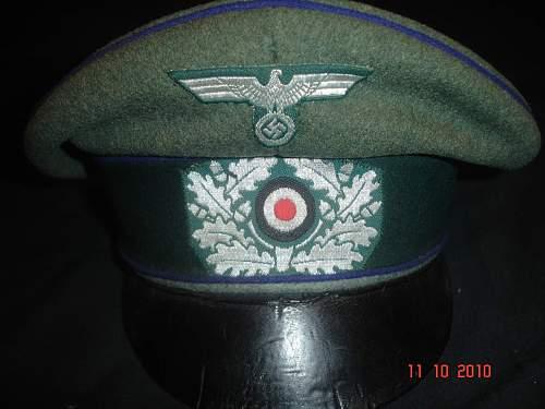 Heer  Medical Officers Feldmutze Alter Art (Crusher Cap)