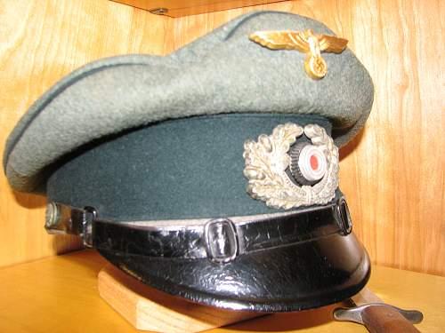 Kriegsmarine Coastal Artillery NCO schirmutze