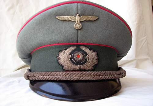 Heer General Staff Officers schirmutze