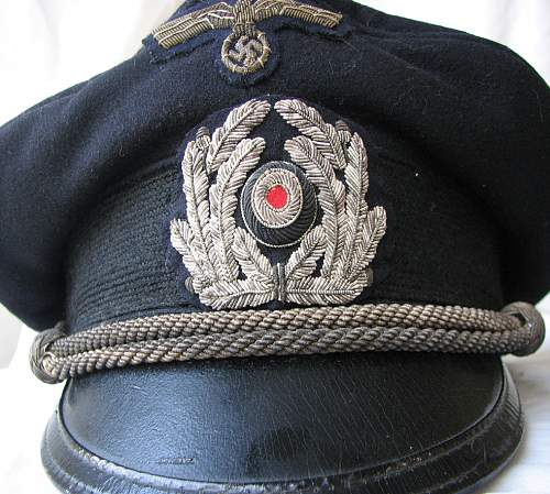 Kreigsmarine Administration Officers schirmutze