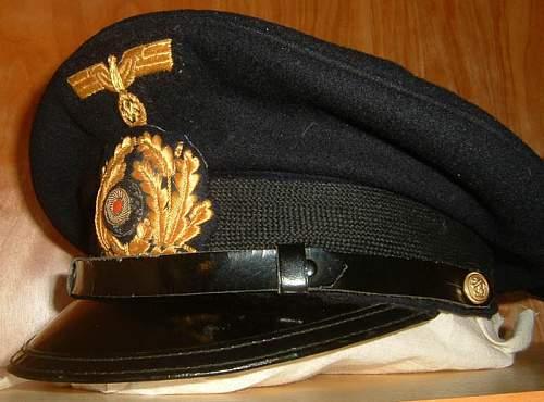 Kriegsmarine NCO's schirmutze