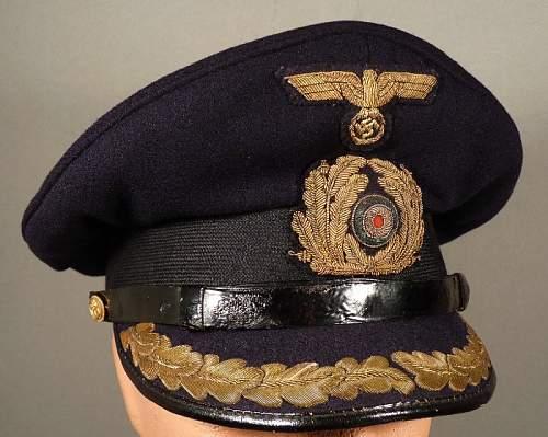 Kreigsmarine Senior officer schirmutze