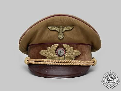 Visor cap NSDAP level GAU