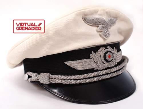 Luftwaffe Officer- White Top schirmutze: Erel Extra