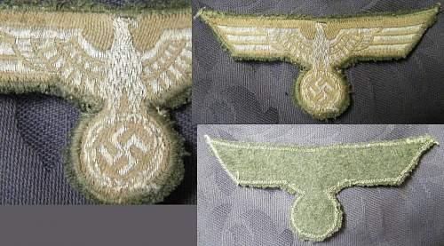 Heer metal cap insignia.