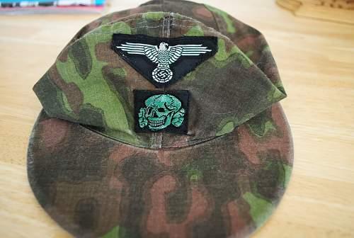 Waffen SS   Camo Cap    12./Hitlerjugend