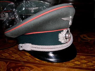 Panzer visor cap has seen better days