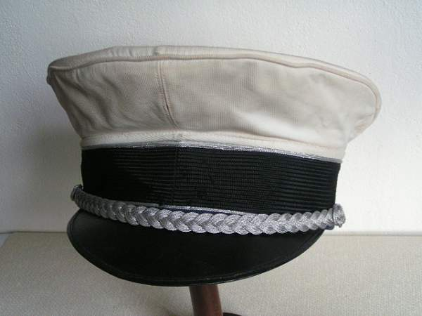 Luftwaffe white visor cap