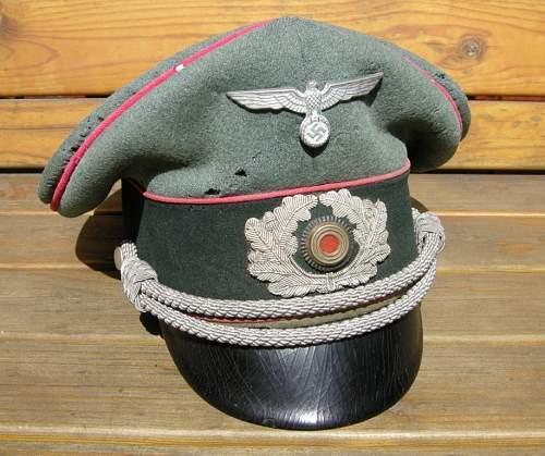 Paul Kaps Panzer Officer Schirmmutze