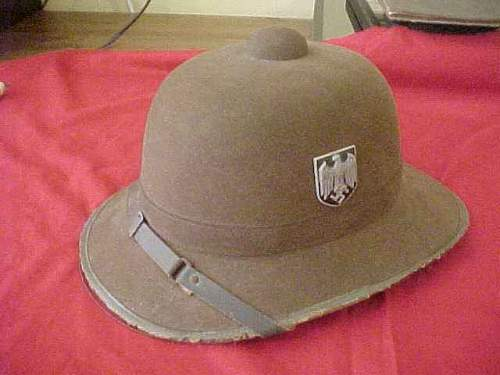 I Need Some Information on the Africa Corps Pith Helmets