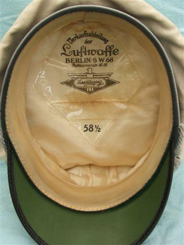 Luftwaffe Officer Summer issue visor cap