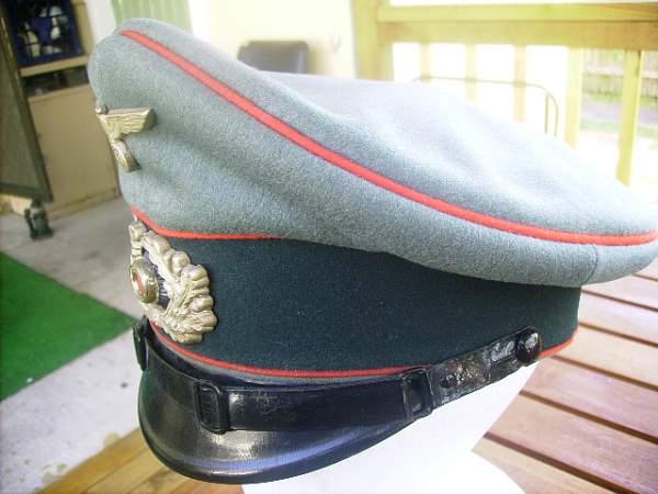 Heer Arillery Officers Schirmutze