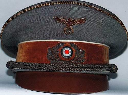 Adolf Hitler's field visor caps